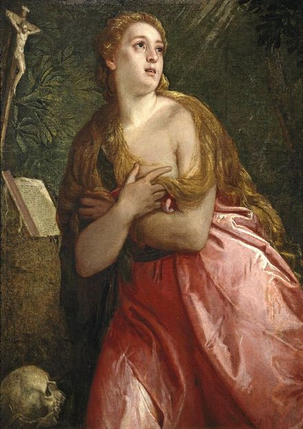 Veronese, Paolo Caliari: The Penitent Magdalene. Fine Art Print/Poster. Sizes: A4/A3/A2/A1 (002015)